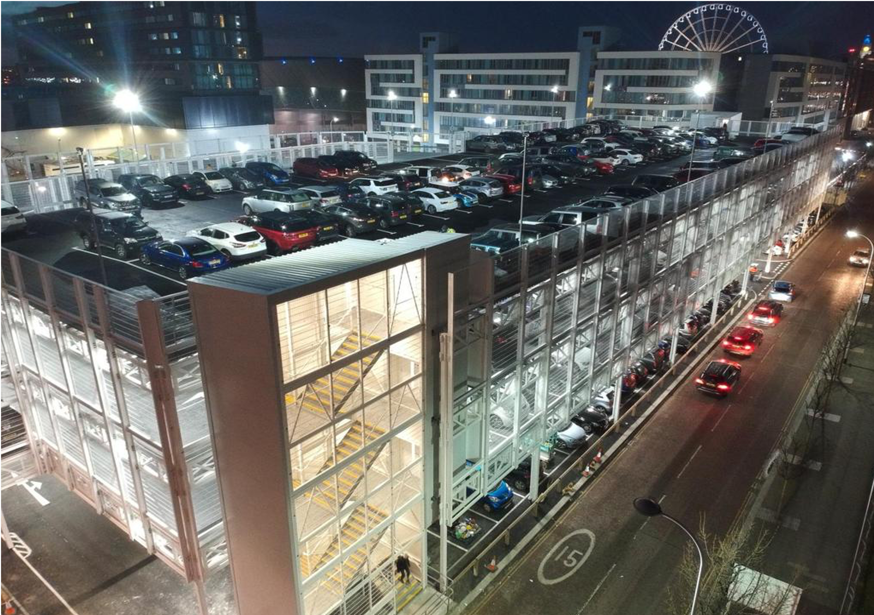 Temporary Car Park Echo Arena Liverpool