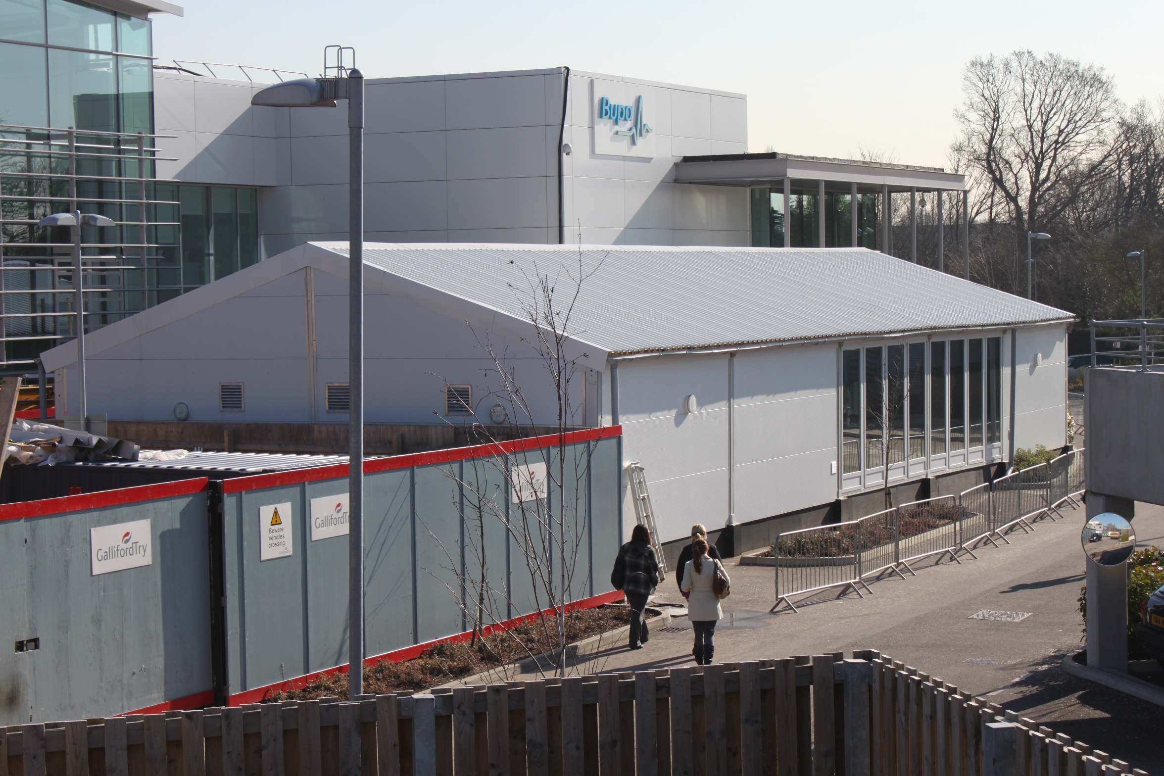 Bupa Temporary Hospital Solid Roof