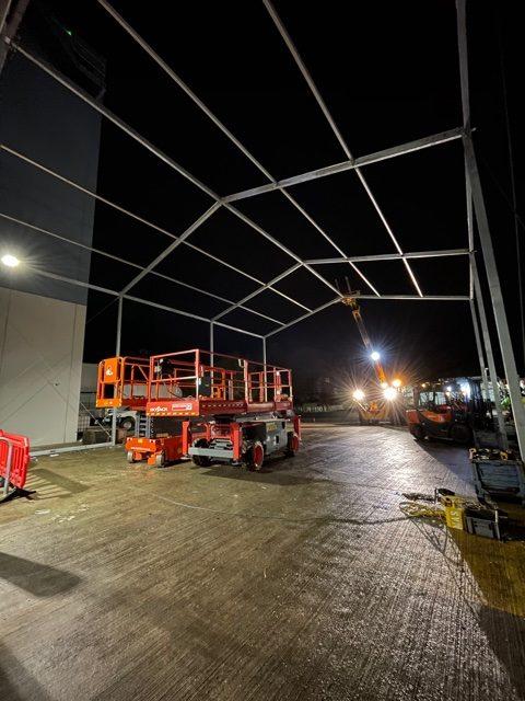Temporary Canopy Framework